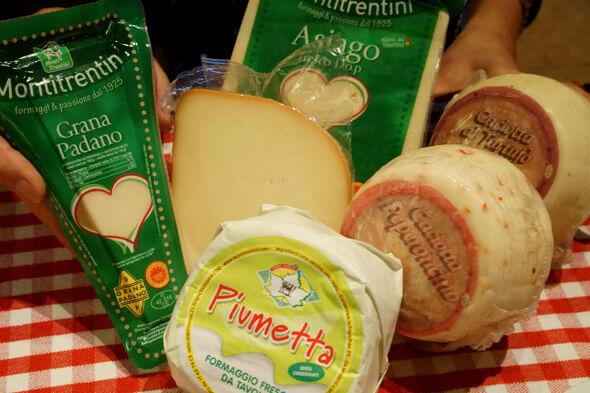 ゲームの呪文みたいなイタリアのチーズたち