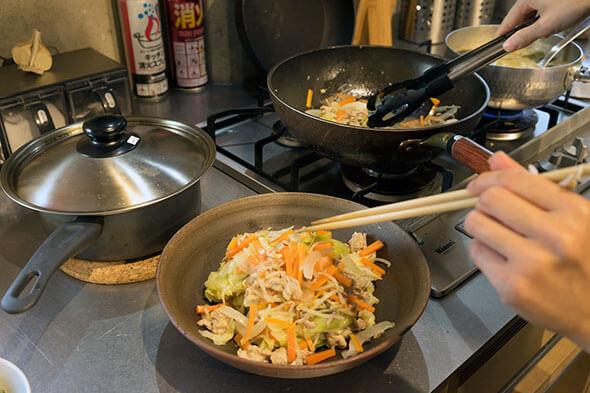 栄養バッチリでおいしそうな野菜炒め