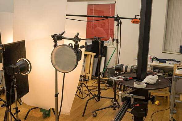 プロのカメラマンさんが撮影中の現場