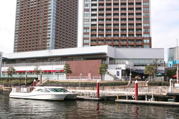 芝浦運河とクルーザーが見えるナイスビューなロケーション