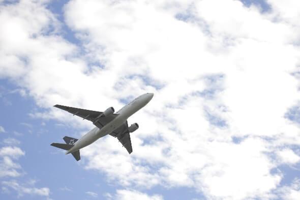 飛行機で田町へ通学