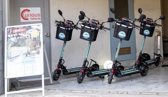 近未来の乗り物、電動キックボードを芝浦でいち早く体験!