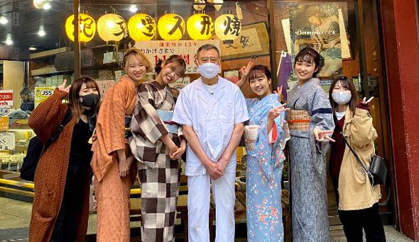 田町新聞に新しい風を吹き込む!?戸板女子短期大学の学生が麻布十番にある和菓子屋さんの取材に挑戦!